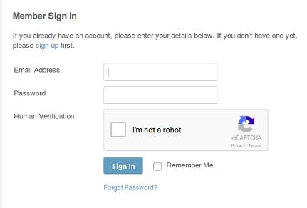 Insignia Google reCAPTCHA